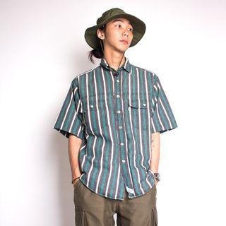 Levi's 綠條紋襯衫 M