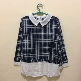 #BAPAU Navy Collar Shirt (Long Sleeve)