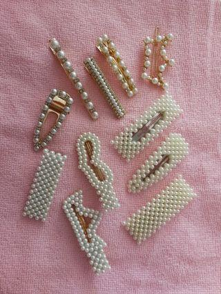 [RS] Beads/Pearls Hair Barrette