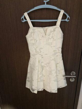 The blush inc V neck lace dress