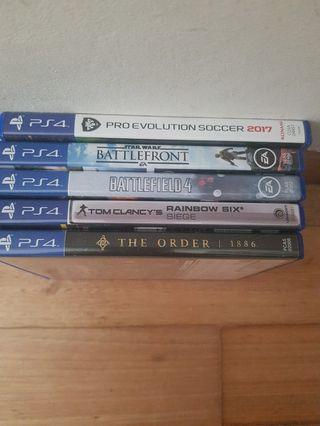PS4 Games 13sgd each 49sgd for all 5