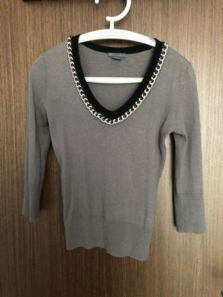 Armani exchange grey chained  Knitted Top
