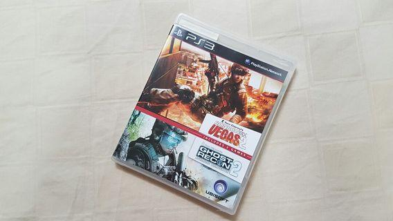 BRAND NEW Combo Pack Tom Clancy's Rainbow Six Vegas 2 + Ghost Recon 2 Advanced Warfighter (PS3)
