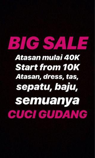 Big sale all item diskon besar cuci gudang