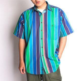 藍系變化條紋襯衫
