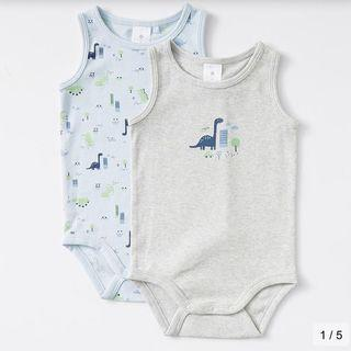 Baby Organic Cotton 2 Pack Print Bodysuits