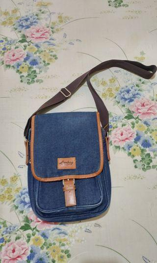 Sale Tas Sling Bag Lomberg Bags Navy Denim