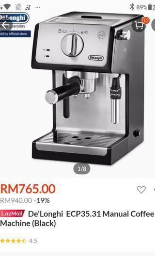DeLonghi Espresso Maker - Coffee Machine EPK3321BK