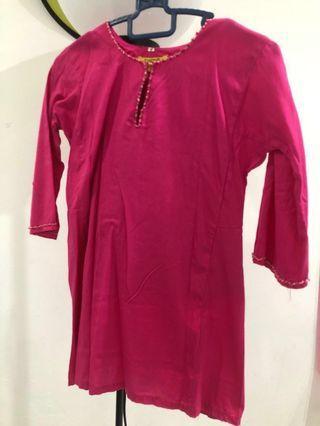 Baju Kurung Budak Pink