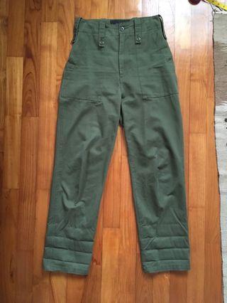 Army Green Pants high waist