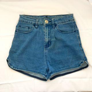 ALLY High Waisted Denim Shorts