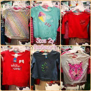 Shirts girls 2y