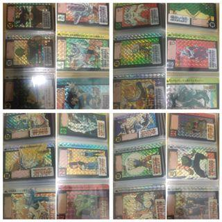 Dragonball Carddass and PP Card Collection Prism Sets