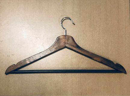 中古木衣架 Vintage Wooden Hangers 8pcs handmade