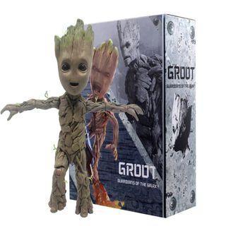 星際異攻隊 1:1 樹人 格魯特 Groot 復仇者聯盟 小樹人 小格魯特 三表情 盒裝 可動 人偶 約26公分