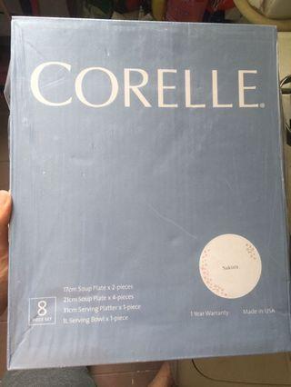 Corelle 康寧八件碟套裝 原裝未開封