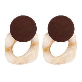 Wood Resin Drop Earring