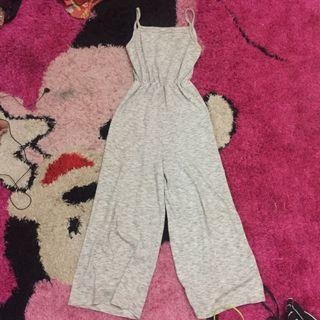 Long jumpsuit grey/abu abu