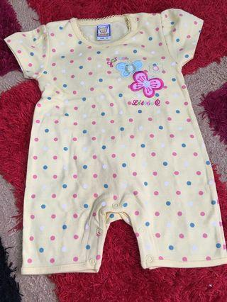 Baby Romper polka dots size 6 months