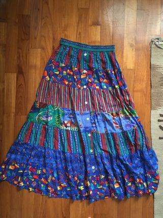 Vintage maxi boho skirt