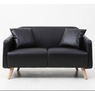 2seater Sofa(pvc black)
