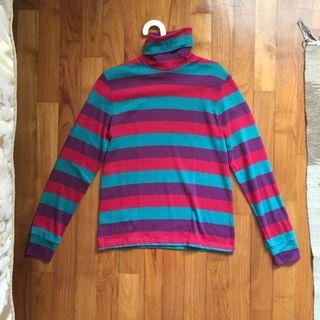 Vintage multi coloured Turtle Neck Sweater