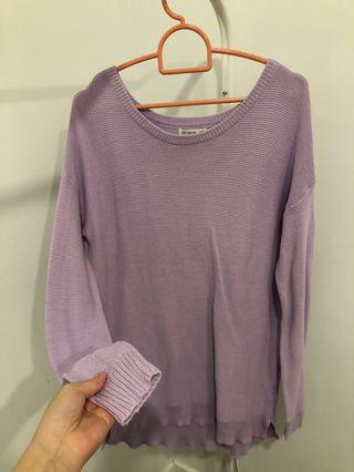 Knitted purple long sleeve
