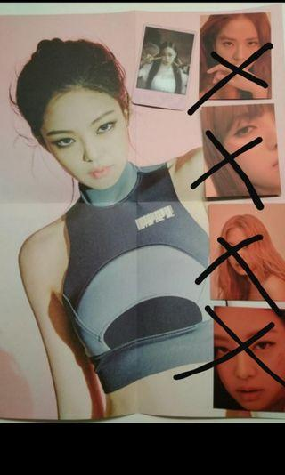 WTT Jennie  Blackpink PC and poster pink ver