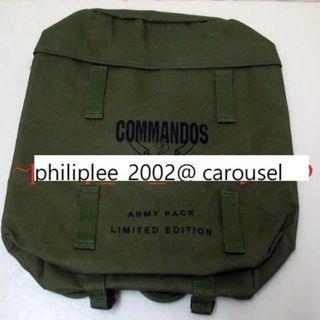 背囊野戰背包 Commandos Army Pack War Game  Limited Edition