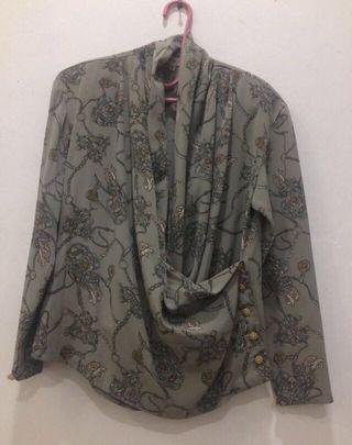 Drapery kimono vintage blouse