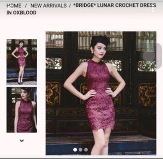 Fashmob Maroon Dress