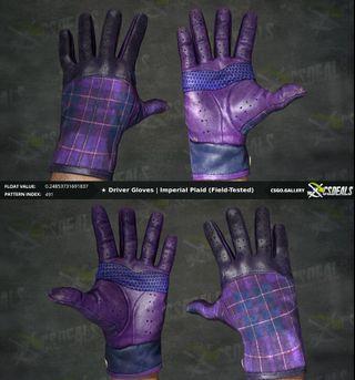 CSGO Driver Gloves Imperial Plaid 0.24