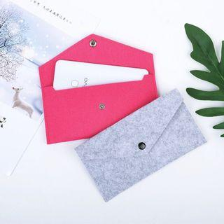 Long wallet felt fabric portable fold over