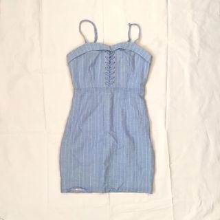 BARDOT Blue Lace Dress
