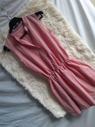 Gingham red sunday dress