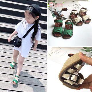 🚚 韓版 春夏新款 女童基本款百搭編織涼鞋