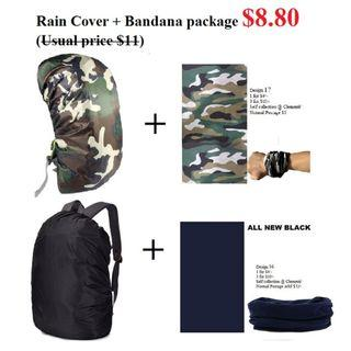 Rain cover and Bandana package @8.80/- (usual $11)