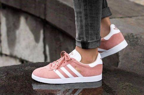 Adidas gazelle 新款玫瑰色休閒鞋