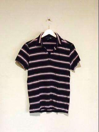 H&M Cool Brown/Pink Stripe Cotton Shirt #mauvivo