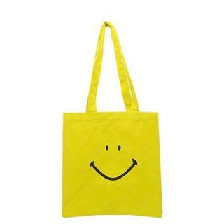 日本 Smiley Face Tote Bag 哈哈笑黃色帆布袋環保購物袋