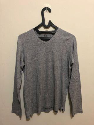 V Neck Uniqlo Grey