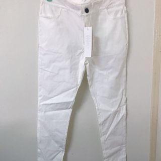 🚚 Meierq簡約質感窄管開衩長褲