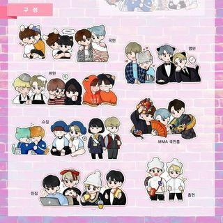 [Share] BTS Jimin x OT6 stickers
