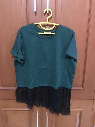 Green x Black Basic Shirt #RamadanSale