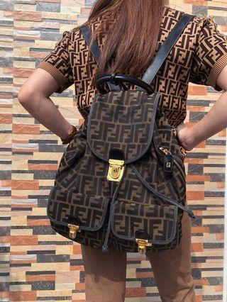 ★FENDI ICONIC MONOGRAM FF BACKPACK BAG
