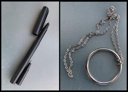 🎩㊙️街頭魔術道具/玩具 Magic Toy 穿鈔/穿透筆Pen 及 劉德華經典神奇 明日環項鍊Ring