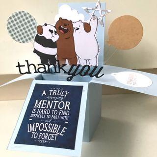Thank you mentor farewell and best wishes webear Pop Up Card