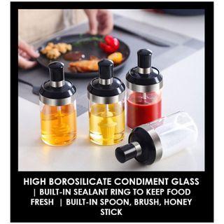 HARI RAYA PROMO – High Borosilicate Condiment Glass   Built-In Seal Ring   Keep Fresh   3 Designs