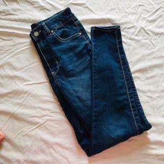 Polo Jeans blue jeans 深藍色牛仔褲 修身 窄腳 有彈性 美國購入