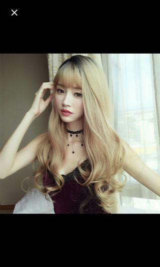 (NO INSTOCKS!) Preorder korean Natural air bangs wavy long wig * waiting time 15 days after payment is made *chat to buy to order
